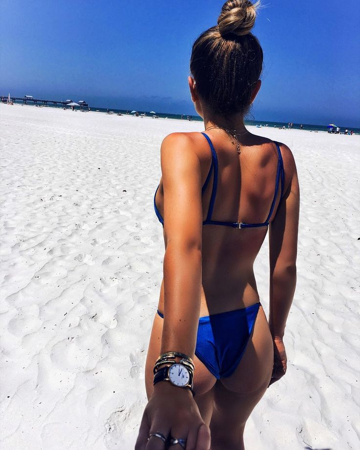 Daniel Wellington watch & blue bikini
