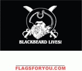 Blackbeard Lives Pirate Flag  3x5