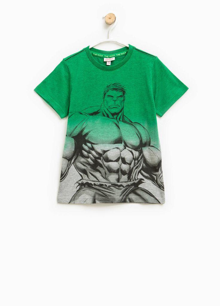 Degradé T-shirt with Hulk print   OVS