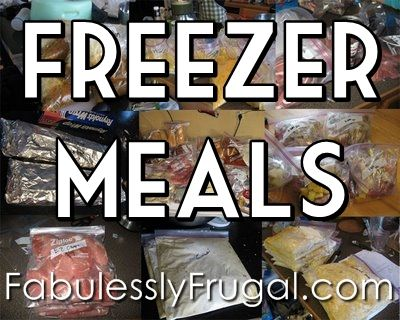 More than 50 Freezer Meal #Recipes with instructions on how to freeze and prepare after freezing.  http://fabulesslyfrugal.com/freezer-meal-recipes-master-list