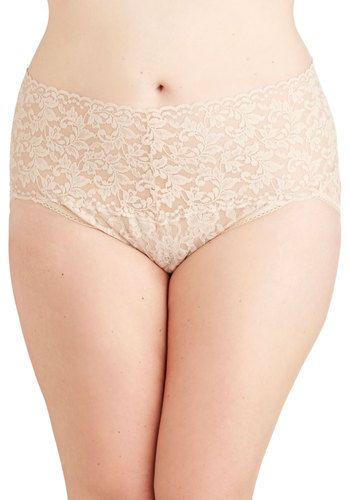 Hanky Panky Lacy and Lovely Undies in Taupe - Plus Size, #ModCloth