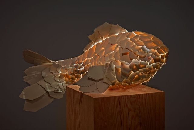 """In early 2013, the Gagosian Gallery in Los Angeles featured an installation of fish lamps created by world renown architect and designer Frank Gehry."""