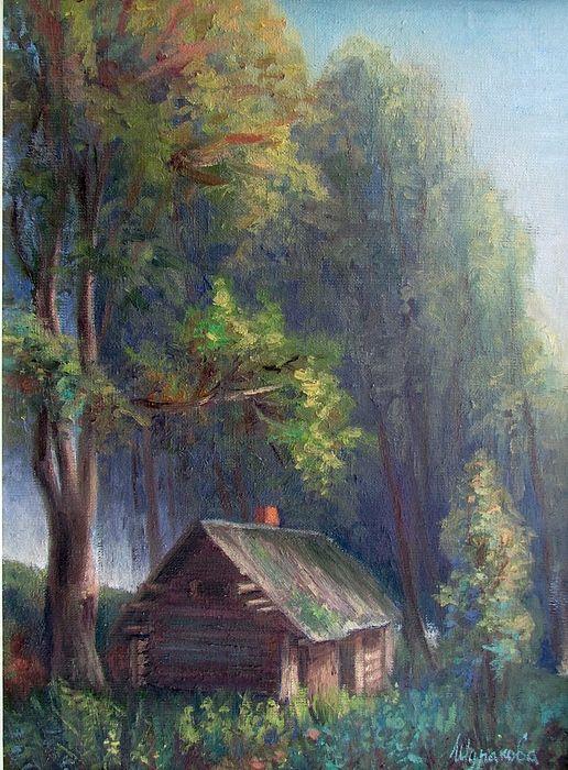 #annashurakova , #warmevening , #night , #sunset, #forest , #house , #hut , #sauna , #lime, #road , #footpath, #bushes , #landscape, #russianlandscape, #russianartist, #russianart, #russian , #painting, #landscapeoilpainting , #oilpainting