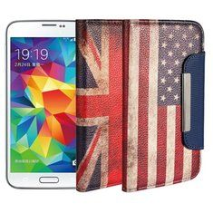 [US$4.99] Magnetic Lock Leather Protective Case For Samsung Galaxy S5 i9600  #case #galaxy #i9600 #leather #lock #magnetic #protective #samsung