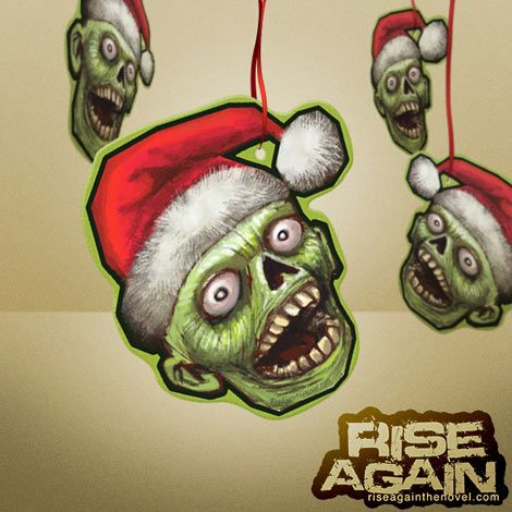 Zombie Santa ornament and gift tag printable for Chris