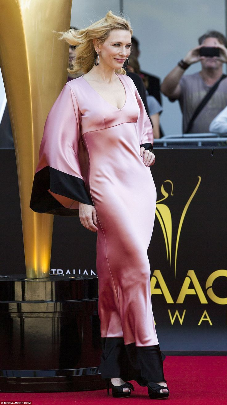 Cue the wind machine: Cate Blanchett has stolen the show on the 2015 AACTA Awards red carpet in ravishing, plunging silk gown by Alexander McQueen