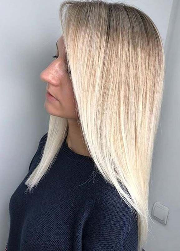 Beautiful Long Blonde Hairstyles Ideas To Create In 2020 Hair Styles Long Sleek Hair Sleek Hairstyles