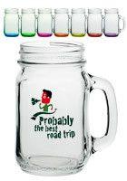 Personalized 16 oz. LIBBEY Mason Jars with Handles