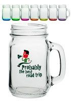 Personalized 16 oz. LIBBEY Mason Jars with Handles