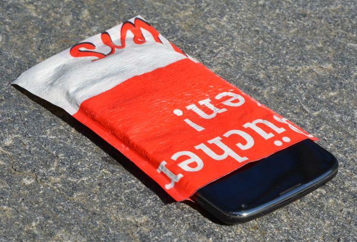 Handy Hülle ohne Nähen aus Plastiktüte