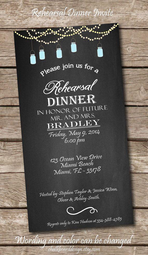 Printable Rehearsal Dinner Invite Printables Custom Dinner Invitation DIY