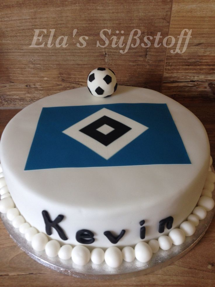 Fußball Torte HSV #HSV #Cake #Football #Torten