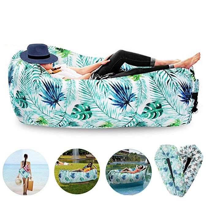 FORNY Inflatable Air Sofa Lounger Hammock Floating Couch Water Proof Pool Toy 2….