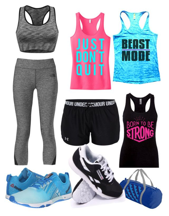 """""""Beast Mode"""" by riley-beckeye on Polyvore featuring The North Face, Reebok and Under Armour"""