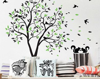 Tree wall decal huge tree wall decals nursery wall decor wall