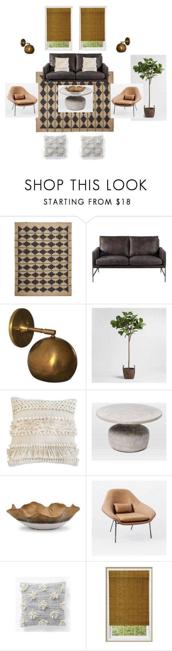 """Boho modern by Joy Sheerer Design"" by joyseven on Polyvore featuring interior, interiors, interior design, home, home decor, interior decorating, Schoolhouse Electric, Cost Plus World Market, Pom Pom at Home and West Elm"