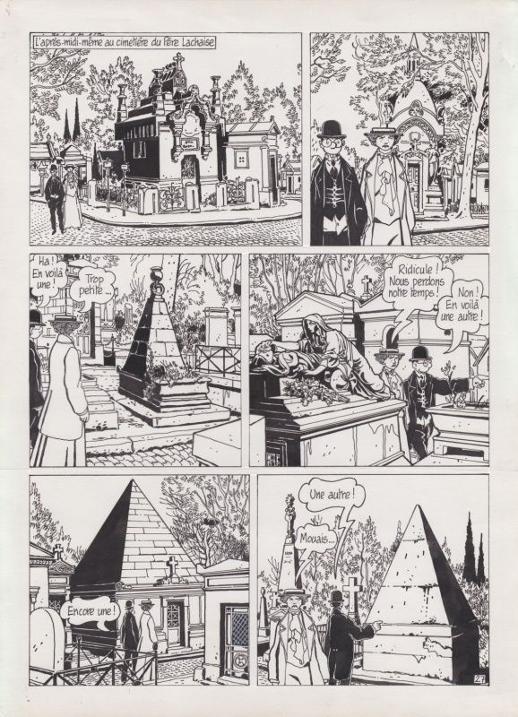 Tardi - Adèle Blanc-Sec - Momies en folie par Jacques Tardi - Planche originale