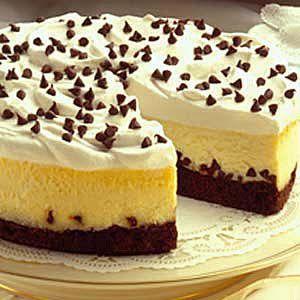 Brownie Chocolate Chip Cheesecake#taste of home#easter dinner