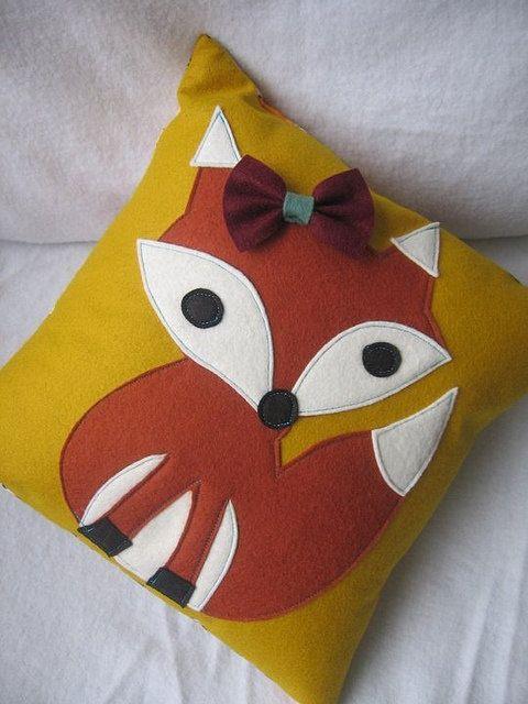 Feelin' Foxy Pillows by BSidesandRarities on Etsy, $35.00