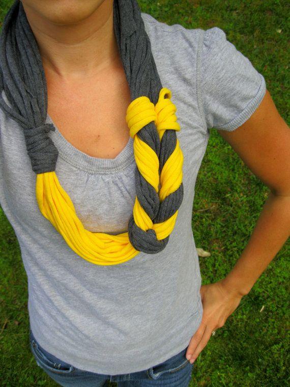 Tshirt Scarf Braided Scarf Infinity Scarves by Scarvesbystephy