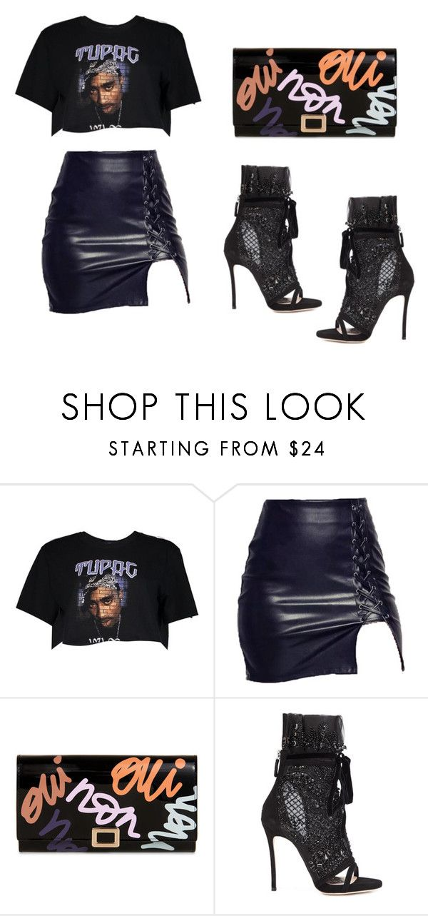 """Tupac I Get Around"" by dudclj on Polyvore featuring Boohoo, Roger Vivier and Dsquared2"