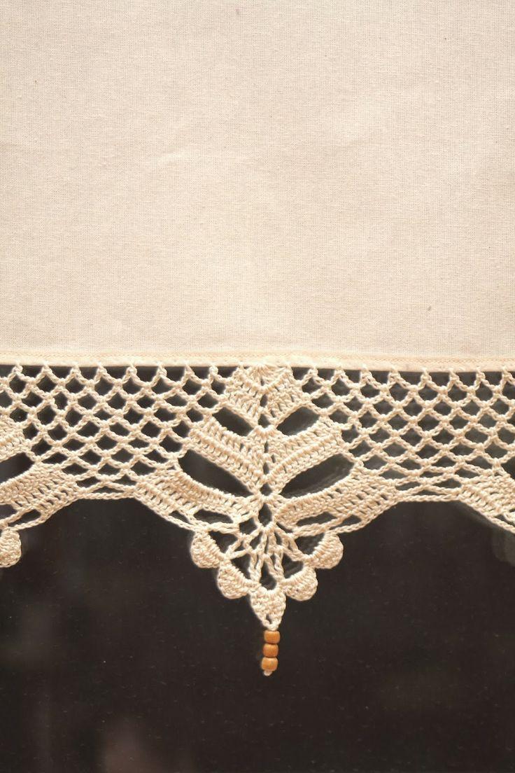 11 best Crochet curtain images on Pinterest | Gardinen häkeln ...