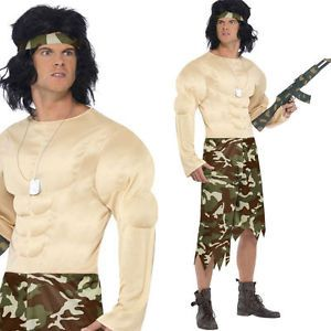 Mens-Muscleman-Soldier-Costume-80s-Film-Rambo-style-Army-Fancy-Dress