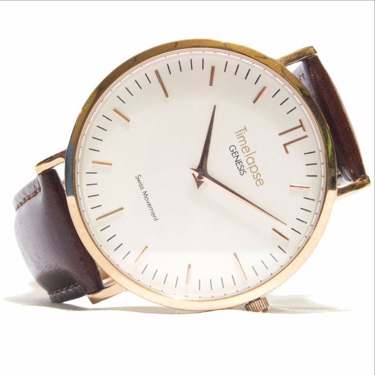 Genesis Launch Edition Unisex Rose Gold Watch - Brown Italian Leather Strap