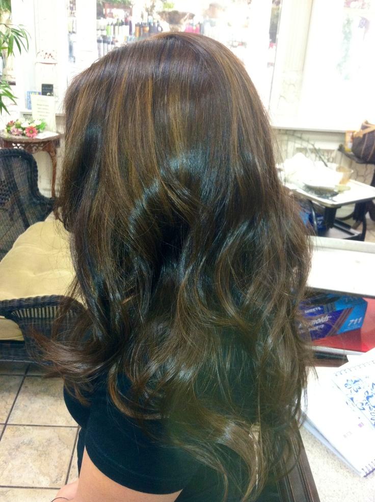 Dark brown hair caramel highlights   Hair by me ...