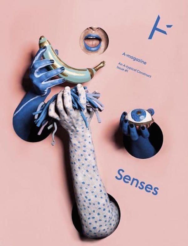 A- Magazine (Regno Uniti) È la copertina del primo numero della rivista distribuita gratuitamente a Londra, e dedicata a musicisti, artisti, giornalisti, chef e accademici originali e innovativi