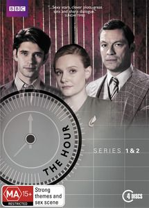 The Hour - Series 1 & 2 Box Set. Written by the award-winning screenwriter of Sex Traffic and Brick Lane, this thrilling 1950s drama boasts an all-star cast and follows a deadly conspiracy, laced with intense ambition and crackling with sexual tension... London, 1956. $49.99