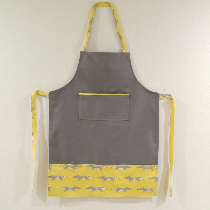 yellow color pointed apron