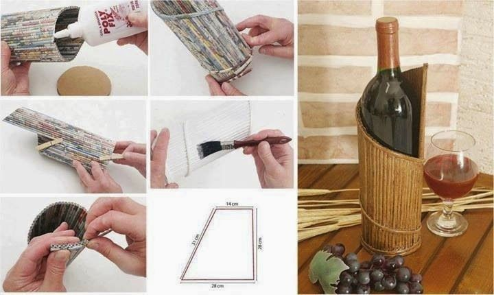 Te sobra papel en casa. Hazte un botellero con papel reciclado http://diarioecologia.com/te-sobra-papel-en-casa-hazte-un-botellero-con-papel-reciclado/