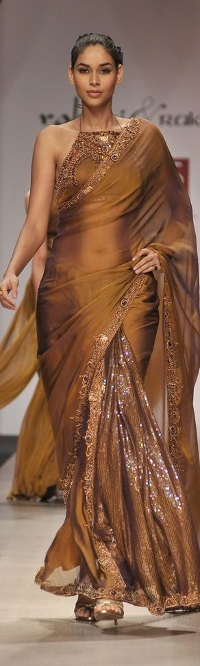 Ritu Kumar designer Saree at Lakme Fashion Week. original pin by @webjournal