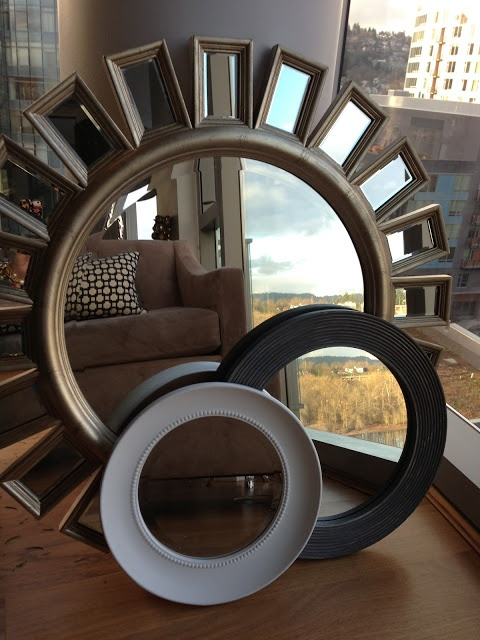 Mixing styles of mirrors is my newest obsession. The classic look of the grain beaded white mirror mixed with the vintage looking blue both from HomeGoods and glam deco large mirror is so visually interesting and tells a story about my personality.