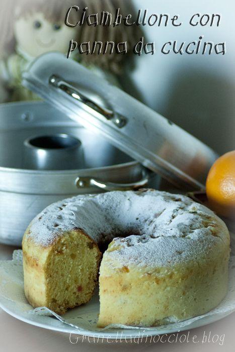 Ciambellone con panna da cucina, in pentola fornetto