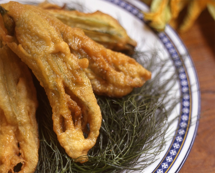Fiori Di Zucchine: Fried Zucchini Flowers from CookingChannelTV.com