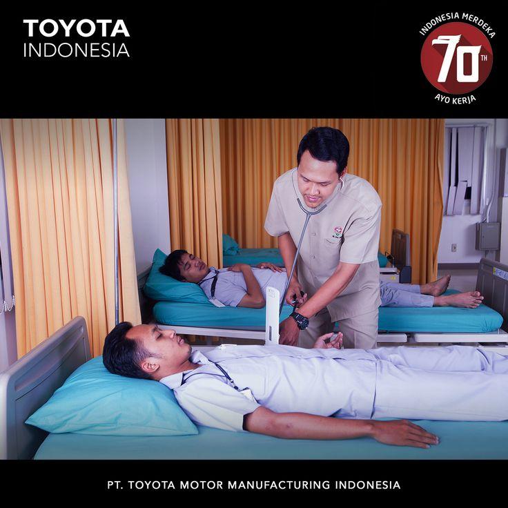 TMMIN memperhatikan kesejahteraan karyawan yaitu dengan menyediakan fasilitas seperti sarana olah raga, kerohanian, kesehatan, hingga koperasi karyawan #TMMIN #ToyotaIndonesia