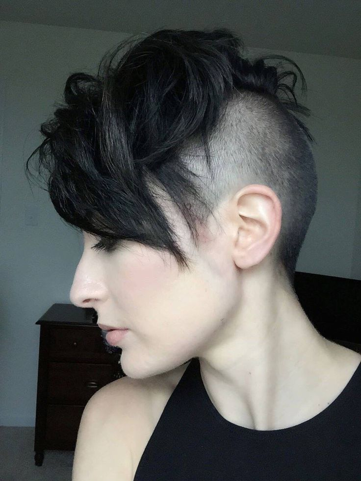 shaved undercut leaving a lot of hair up top