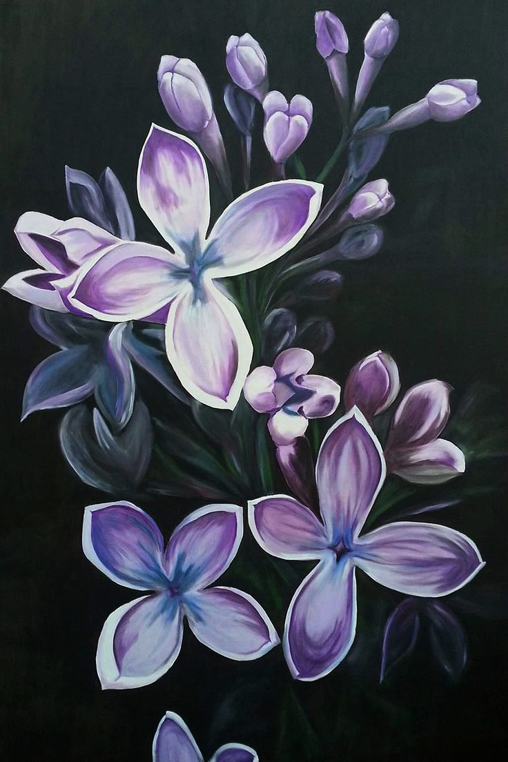 Lilac. Oil on canvas.Size:80x120cm.