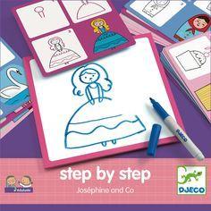 #DIY step by step #Coloring by #Djeco tekenset meisjes 3-6 j from www.kidsdinge.com                            http://instagram.com/kidsdinge          https://www.facebook.com/kidsdinge/ #kidsdinge #Toys #Speelgoed