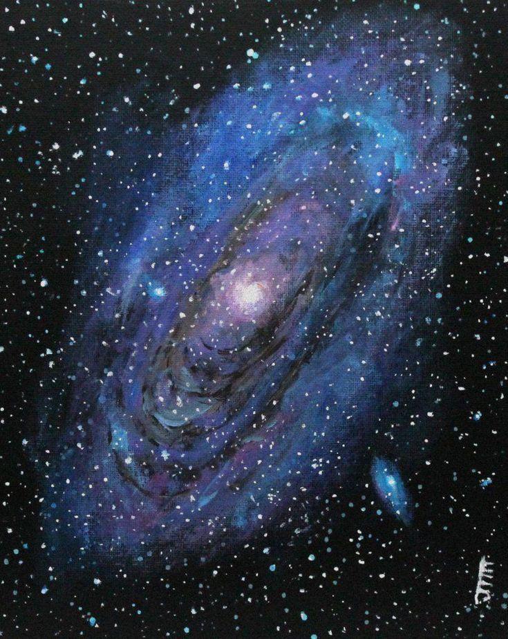 Andromeda Galaxy Art Astronomy Galaxy Painting Galaxy Art Andromeda Galaxy