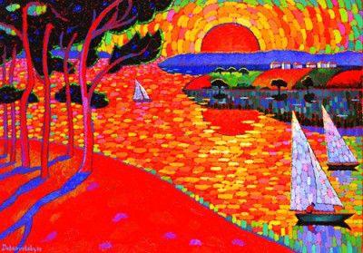 Dmytro Dobrovolsky : A Splendid Sunset