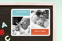 Modern Multiples Birth Announcements by Susan Asbi... | Minted