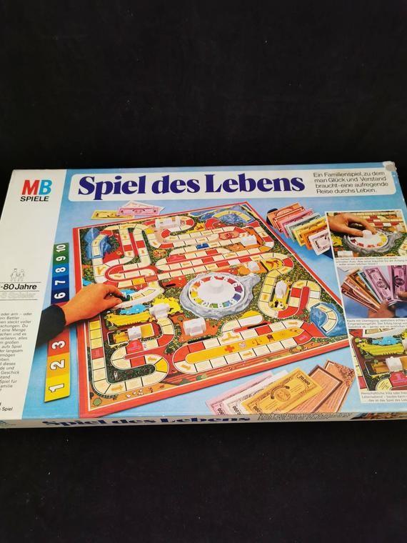 Vintage Spiel Des Lebens Alte Ausgabe Spiel Des Lebens Alte Spiele 80er Kinder