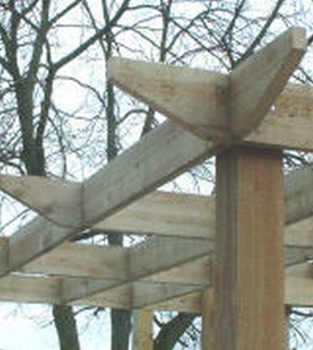 28 best exposed rafter tails images on pinterest dreams exposed rafters and facades - Gazebo pergola designs dream spot ...