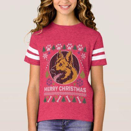 #German Shepherd Dog Breed Ugly Christmas Sweater