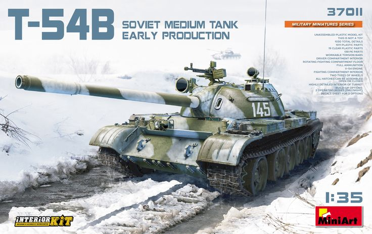 37011 T-54B SOVIET MEDIUM TANK. EARLY PRODUCTION