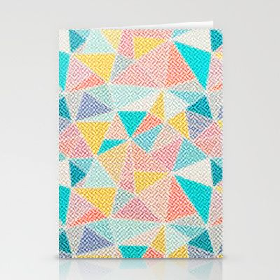Pastel Geometric Stationery Cards by The Digital Weaver | Society6