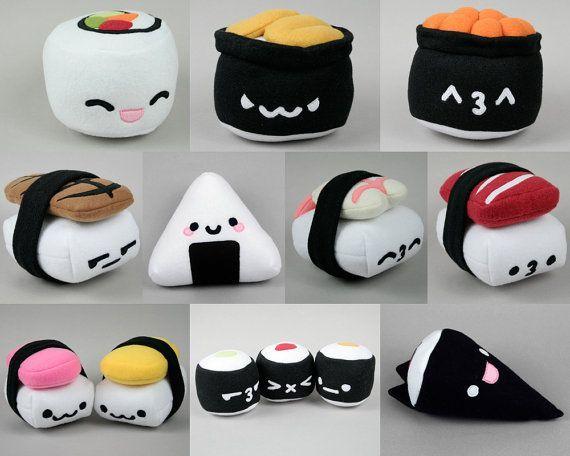 Spam Musubi & Egg Nigiri Sushi Plush .pdf Sewing Pattern